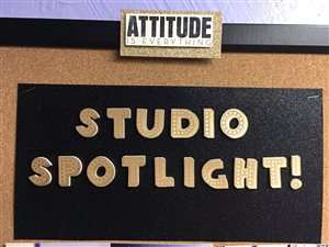 The Studio Spotlight Board features students as the progress to a higher level in their piano skills.
